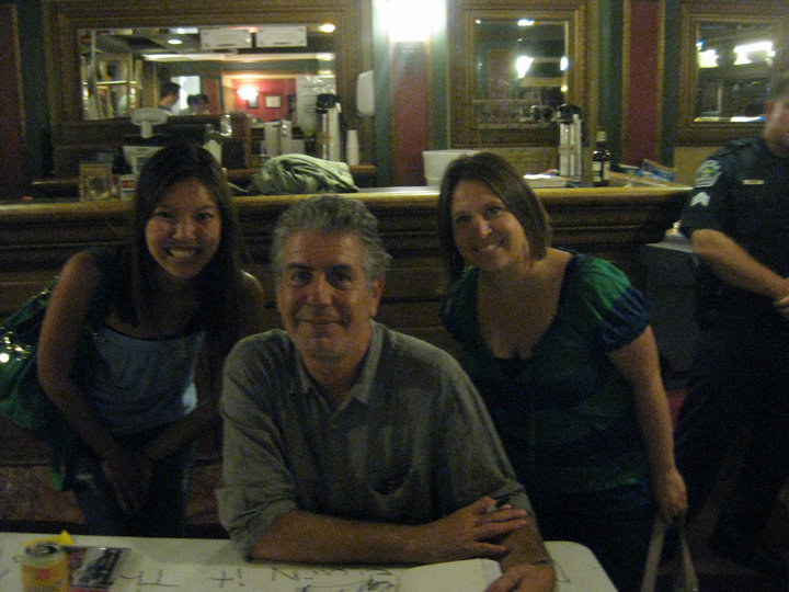 I touched Anthony Bourdain's tricep.