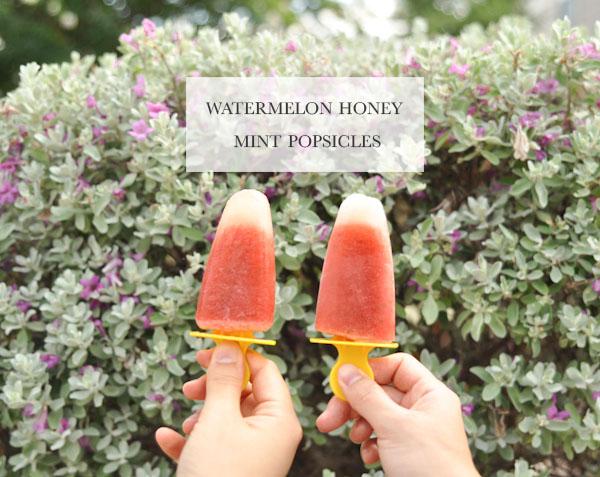 Watermelon Honey Mint Popsicles