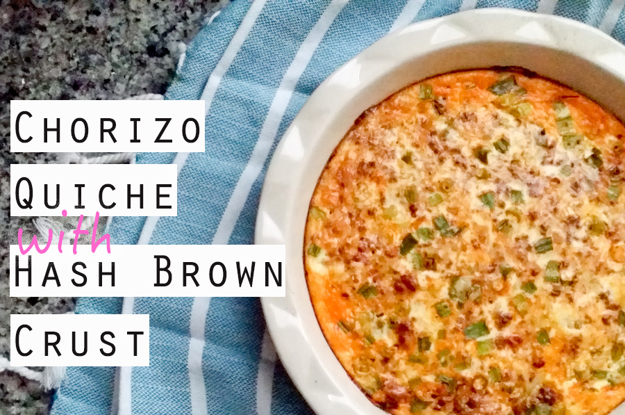 Chorizo Quiche with Hash Brown Crust