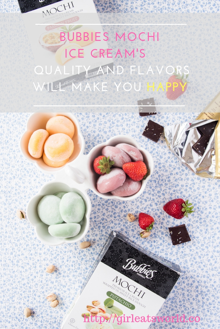 Bubbies Mochi Ice Cream's Quailty and Flavors Will Make You Happy
