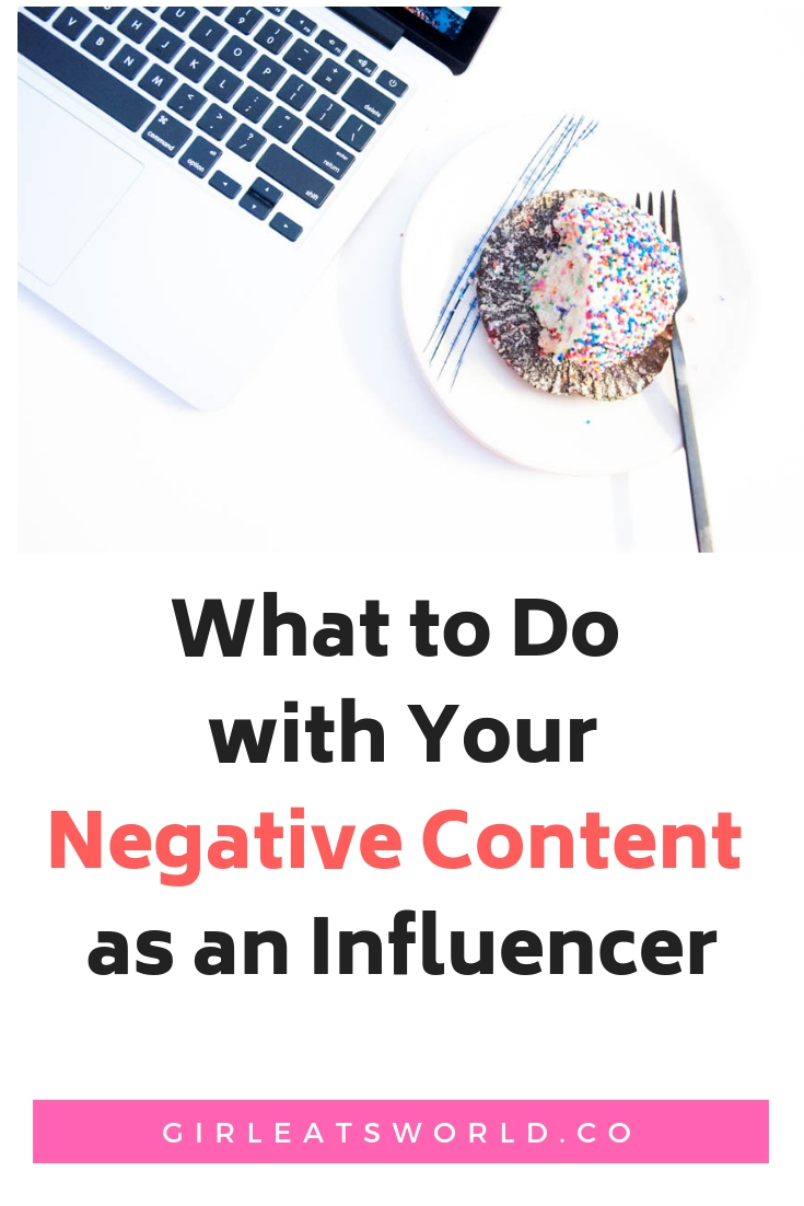 What to do with Negative Content as an Influencer