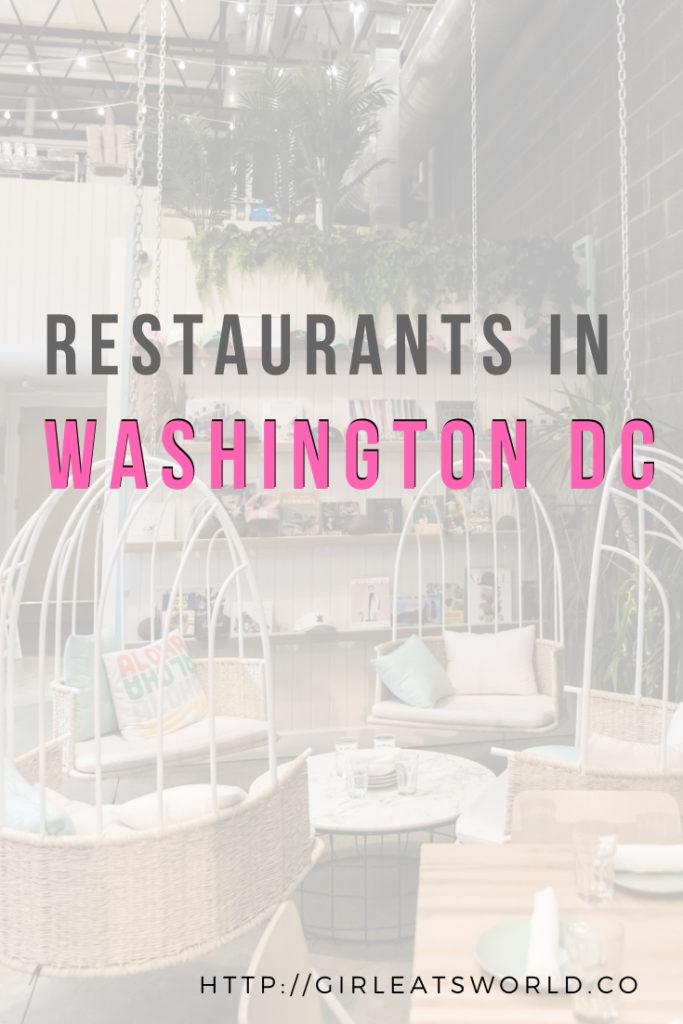 Best restaurants in Washington DC