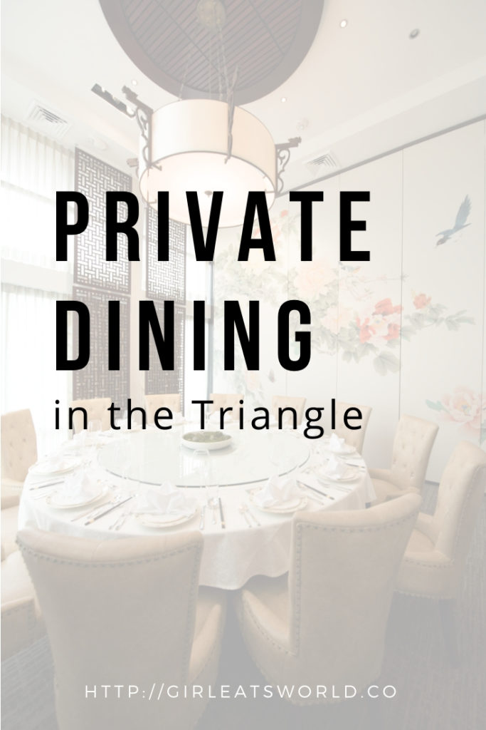 Private Dining in the Triangle