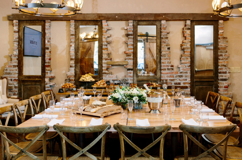 private dining in the Triangle - La Farm