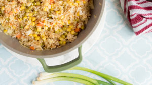 easy fried rice recipe that is perfect for a week night dinner