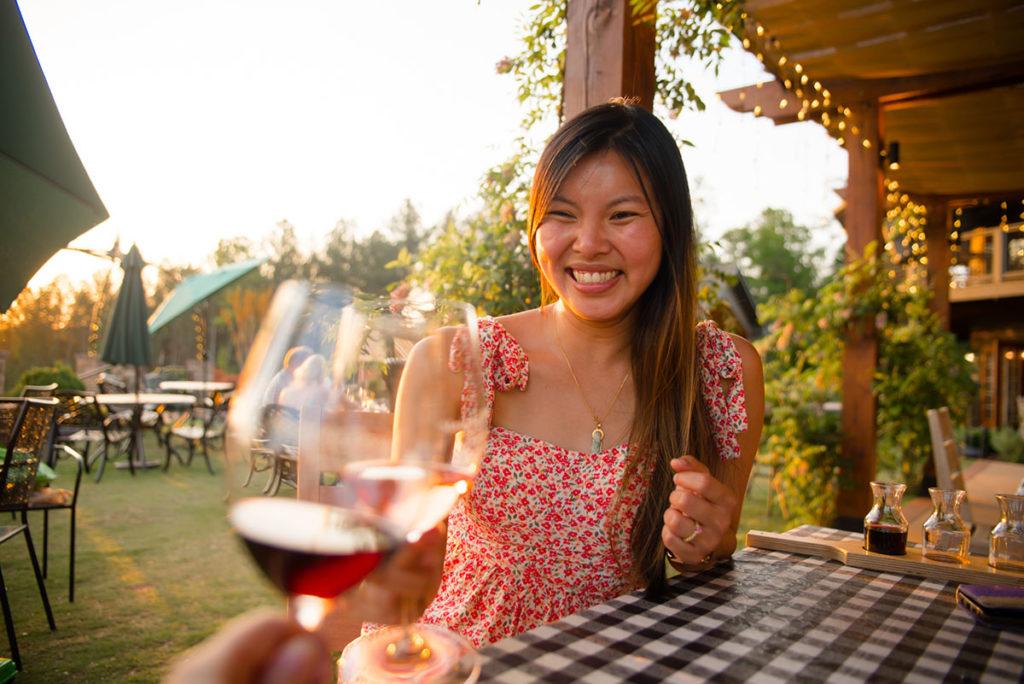 Linda Eats World  at Mountain Brook Vineyard